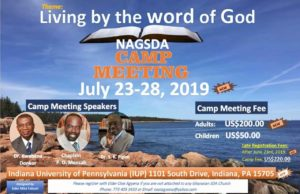 2019 NAGSDA CAMPMEETING